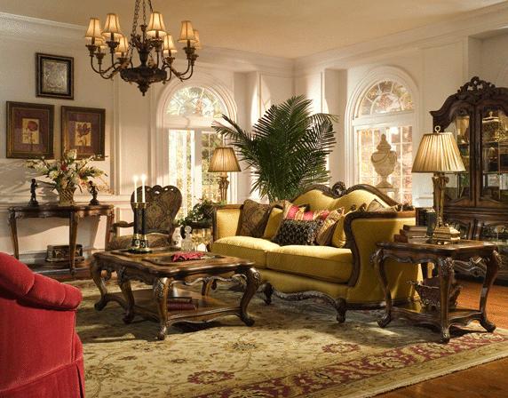 красивый и богатый ковер для интерьера в стиле рококо, фото