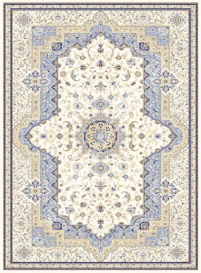 персидский ковер голубой, коллекция Машхад