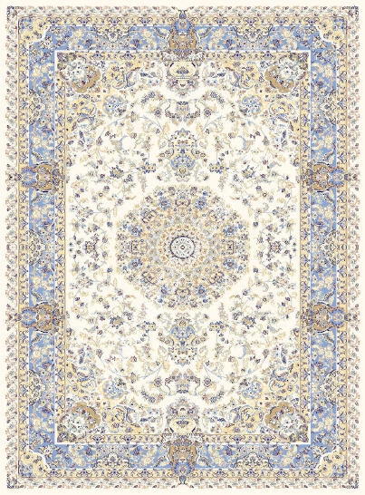 голубой ковер персидский, коллекция Машхад, Иран