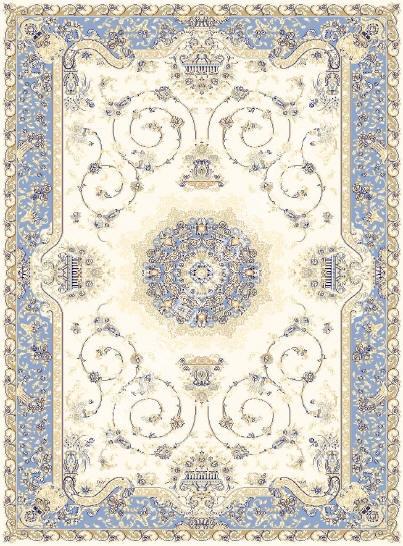 персидский ковер голубой, коллекция Машхад, 100% шерсть