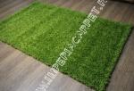 длиноворсный ковер зеленая травка