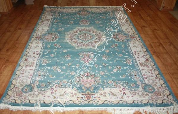 голубой ковер классический, турецкий
