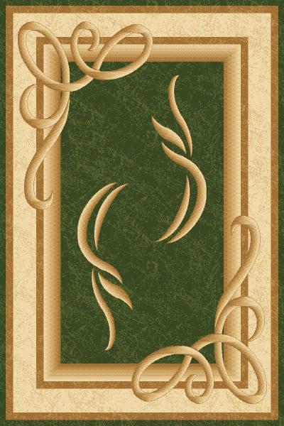 зеленый ковер в стиле модерн, коллекция Империал Карвинг, Турция