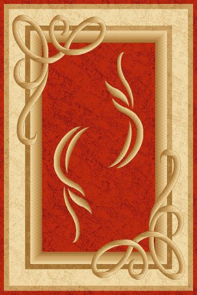 оранжевый ковер в стиле модерн, коллекция Империал Карвинг, Турция