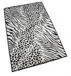 ковер черно-белый в африканском стиле фото
