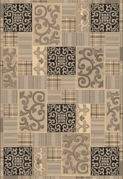 коричневый ковер с узорами, коллекция Аргентум, Бельгия