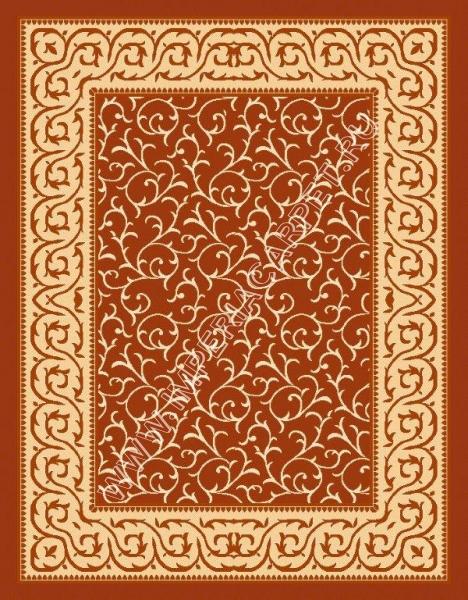 оранжевый ковер циновка, узорчатый рисунок по всему полю