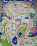 детский ковер авто дорога
