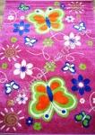 детский ковер с бабочками