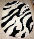 ковер зебра с длинным ворсом, фото