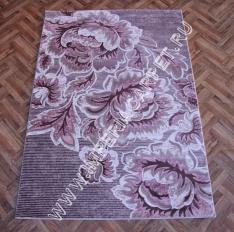 сиреневый ковер из вискозы, Турция, коллекция Рома