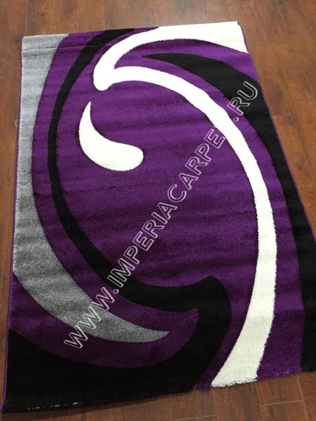 фиолетовые ковер с белыми разводами  Глория, Турция